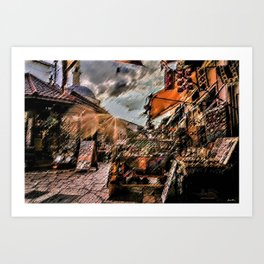 Good Morning Sarajevo Landscape Painting by Jeanpaul Ferro Art Print