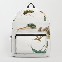 Insects, frogs and a snail Backpack