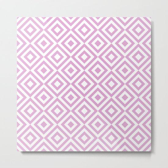 Purple Geometric Diamond Pattern Metal Print