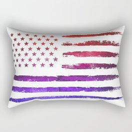 Red & blue gradient USA flag Rectangular Pillow