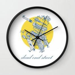 dead end street Wall Clock