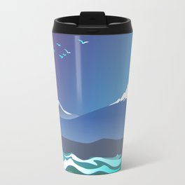 Mont Taranaki From The Sea Travel Mug