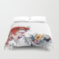 cocaine Duvet Covers featuring Splurge by Ashleigh Hungerford