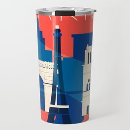 Abstract Paris Travel Mug
