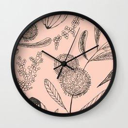 Floating Blush Garden Wall Clock