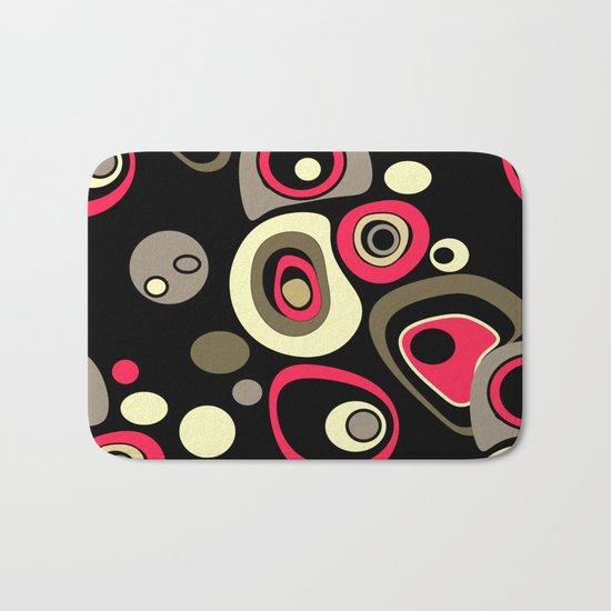 Abstract colorful polka dots pattern . Bath Mat