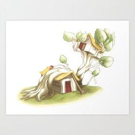 CabanArbre-Echelle Art Print