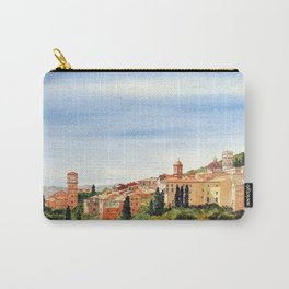 Assisi Italy with Basilica Of San Francesco Carry-All Pouch