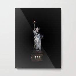 Statue of Liberty at Night Metal Print