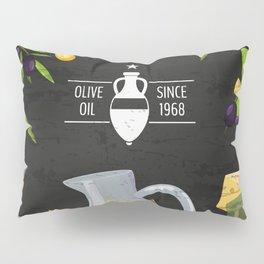Olives retro poster #1 Pillow Sham