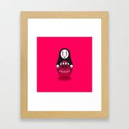 Kaonashi Doll Framed Art Print