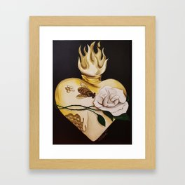 Honeycomb Heart Framed Art Print
