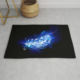 Feather of Blue Fire Rug