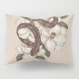 Snake and Magnolias Pillow Sham