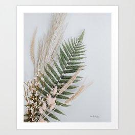 Boho florals Art Print