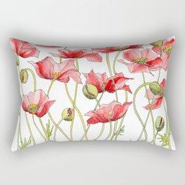 Red Poppies, Illustration Rectangular Pillow