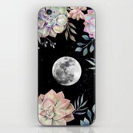 succulent full moon 4 iPhone Skin