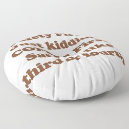 Safety First Floor Pillow