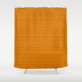 Radiant Yellow Wood Grain Color Accent Shower Curtain