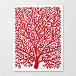 Red Fan Coral Canvas Print