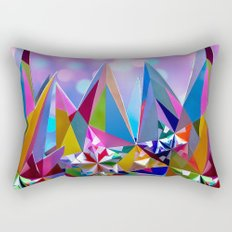 Festive colorful crystals Rectangular Pillow