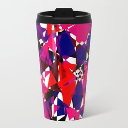 Abstract Colorful Broken Fragment Travel Mug