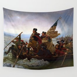 George Washington Crossing Of The Delaware River Painting Wall Tapestry