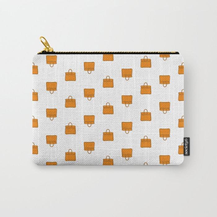 Orange Birkin Vibes High Fashion Purse Illustration Carry-All Pouch
