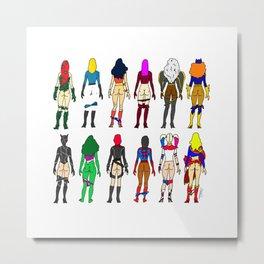 Superhero Butts - Girls LV Metal Print