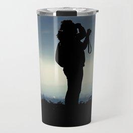 Photographer silhouette Travel Mug