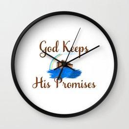 Noahs Ark God Keeps His Promises Wall Clock