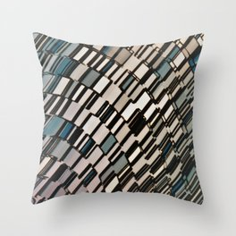Abstract Architectural Taupe Throw Pillow