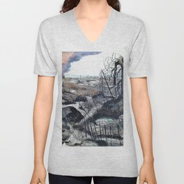 Paul Nash - Wire - Digital Remastered Edition Unisex V-Neck