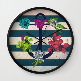 Summertime Sailing Wall Clock