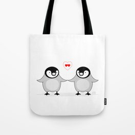 Penguin Love Tote Bag