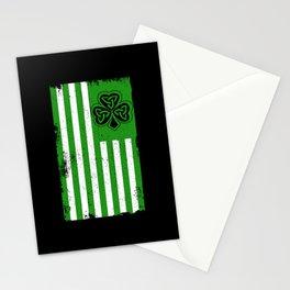 Irish USA Flag Celtic Cross Patricks Day Stationery Cards