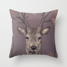 Deer Soul Throw Pillow