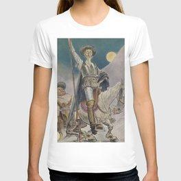 Don Quixote and Sancho Panza Magazine Cover T-shirt