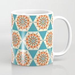 Kaleidoscope Retro Blue Coffee Mug