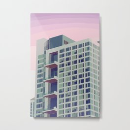 Building with pastel coloured sky Metal Print