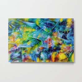 The Pleasure of Presence (Abstract expressionist and Surrealist Art) by R. Matta Metal Print