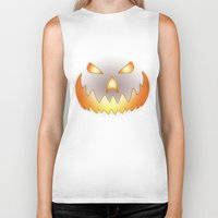 halloween Biker Tanks featuring Halloween by Nicklas Gustafsson