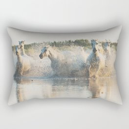 runaway horses ... Rectangular Pillow