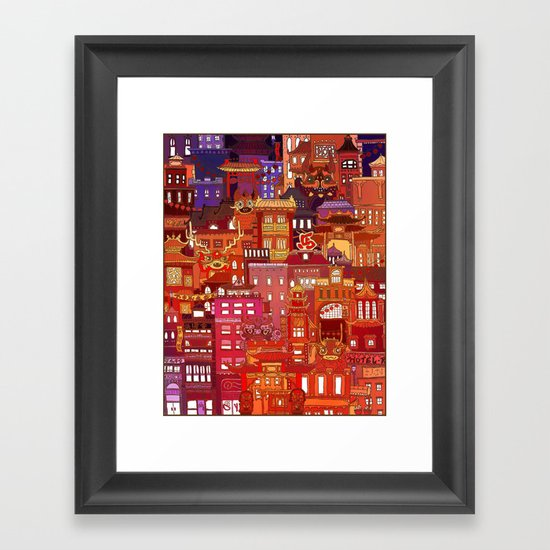 China Town Framed Art Print