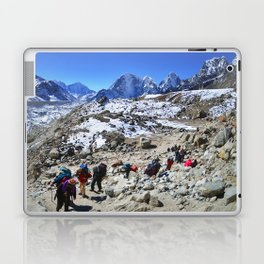 Trekking in Himalaya. Group of hikers  with backpacks   on the trek in Himalayas, trip  to the base  Laptop & iPad Skin