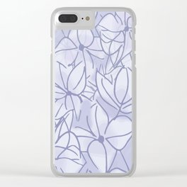 Lavender Bunch Clear iPhone Case