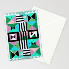 Blue Triangulation Stationery Cards