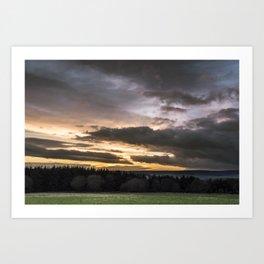 North Yorkshire Moors Sunset Art Print