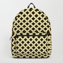 Batik Kawung Brown Ethnic Pattern Backpack