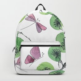 a touch of summer fragrance - white background Backpack